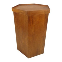 Threshold Wooden Hex Accent Table with Storage, Natural