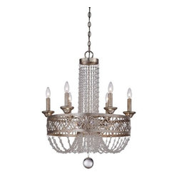 Minka Lavery - Minka Lavery 4848-276 9 Light 1 Tier Empire Chandelier Lucero Collectio - Nine Light Single Tier Empire Chandelier from the Lucero CollectionFeatures: