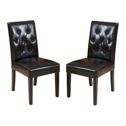 Waldon Leather Dining Chair, Set of 2