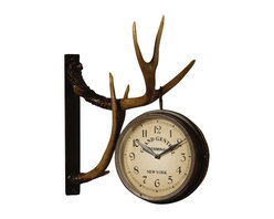 Crestview Collection - Crestview Collection CVCKA262 Deer Park Clock - Crestview Collection CVCKA262 Deer Park Clock