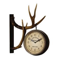 Crestview Collection - Crestview Collection CVCKA262 Deer Park Clock - Crestview Collection CVCKA262 Deer Park Clock