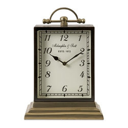 "IMAX - Ford Oversized Desk Clock - Assembled with precision, the Ford oversized desk clock is manufactured with European engin red quality. Using high gauge metals and superior casting, this clock features a versatile heirloom quality that blends with a variety of decor. Item Dimensions: (14.5""h x 10.25""w x 6"")"