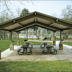Fifthroom - All Steel Single Roof Savannah (Rectangle) Pavilions -
