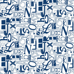 Loboloup - What's Your Type?, Prussian Blue, Roll - The alphabet never looked so interesting.