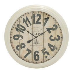 Appealing and Antique Styled Metal Wall Clock - Description: