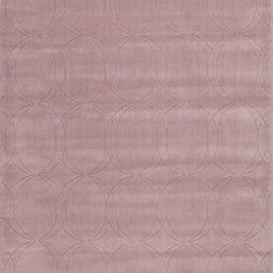 Metro MT32 Rug - 2'x3' - This collections offers simple modern geometrics in all the fashion colors. Hand loomed in 100% wool each rug make a bold solid color statement to compliment contemporary interiors. The pattern and texture is created through a high/low loop and pile construction.