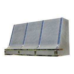 Zinc Range Hood | Single Sweep | Vogler - Custom Zinc Single Sweep Range Hood by Vogler Metalwork & Design.