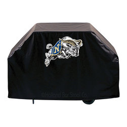 """Holland Bar Stool - Holland Bar Stool GC-USNavA US Naval Academy (NAVY) Grill Cover - GC-USNavA US Naval Academy (NAVY) Grill Cover belongs to College Collection by Holland Bar Stool This US Naval Academy (NAVY) grill cover by HBS is hand-made in the USA; using the finest commercial grade vinyl and utilizing a step-by-step screen print process to give you the most detailed logo possible. UV resistant inks are used to ensure exeptional durablilty to direct sun exposure. This product is Officially Licensed, so you can show your pride while protecting your grill from the elements of nature. Keep your grill protected and support your team with the help of Covers by HBS!"""" Grill Cover (1)"""