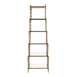 Ballard Designs - Wilton etagere - I would use this lovely piece with subtle, beautiful details in a living room, bathroom or dining room.