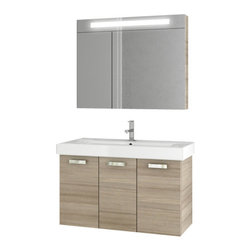 ACF - 37 Inch Larch Canapa Bathroom Vanity Set - Add this quality, contemporary bathroom vanity to your already contemporary personal bathroom.