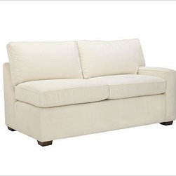 PB Square Upholstered Right Arm Loveseat, Polyester Cushions, Textured Basketwea - The streamlined silhouettes of our bestselling PB Square slipcovered sectionals are now available in a more tailored, upholstered edition. Compact proportions make them ideal for smaller spaces. {{link path='pages/popups/PB-FG-Square-3.html' class='popup' width='720' height='800'}}View the dimension diagram for more information{{/link}}. {{link path='pages/popups/PB-FG-Square-6.html' class='popup' width='720' height='800'}}The fit & measuring guide should be read prior to placing your order{{/link}}. Choose polyester wrapped cushions for a tailored and neat look, or down-blend for a casual and relaxed look. Proudly made in America, {{link path='/stylehouse/videos/videos/pbq_v36_rel.html?cm_sp=Video_PIP-_-PBQUALITY-_-SUTTER_STREET' class='popup' width='950' height='300'}}view video{{/link}}. For shipping and return information, click on the shipping info tab. When making your selection, see the Special Order fabrics below. {{link path='pages/popups/PB-FG-Square-7.html' class='popup' width='720' height='800'}} Additional fabrics not shown below can be seen here{{/link}}. Please call 1.888.779.5176 to place your order for these additional fabrics.