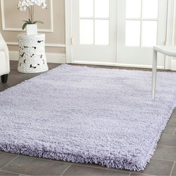 Safavieh - Safavieh Plush Super Dense Hand-woven Lilac Premium Shag Rug (3' x 5') - Give your favorite room a fashionable touch with this modern shag rug. Featuring a high density acrylic pile with a cotton backing,it offers quality and durability. The rug's beautiful lilac color scheme will highlight virtually any type of decor.
