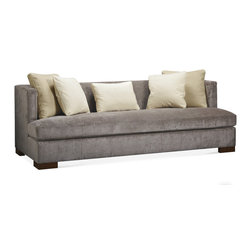 Baker Furniture - Social Scene Sofa - A modern tuxedo-style sofa with loose seat and loose back cushions. Generous and timeless, this sofa is accented with a combination of throw pillows and is also available as a sectional to create a custom look.