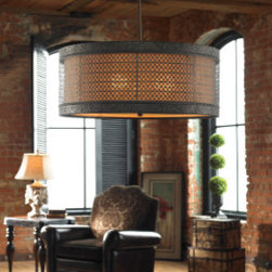 "21891 New Orleans, 3 Lt Hanging Shade by uttermost - Get 10% discount on your first order. Coupon code: ""houzz"". Order today."