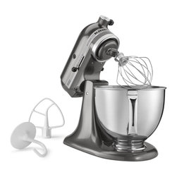 KitchenAid - KitchenAid RRK150QG Liquid Graphite 5-quart Artisan Tilt Head Stand Mixer (Refur - The refurbished KitchenAid Liquid Graphite 5-quart Artisan Tilt Head Stand Mixer has a lovely liquid graphite color mixed with bright stainless steel. This five-quart mixer has a 10-speed slide control for precise mixing.