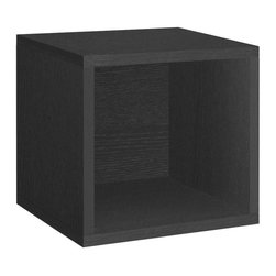 Way Basics - Way Basics Caddies zBoard Eco 12.8 in. x 13.4 in. Black Stackable Storage Cube - Shop for Storage & Organization at The Home Depot. Stackable Modular Storage Cubes. Simple design solution and eco-friendly furniture. An excellent home organizer for modern living. Behold our most basic creation flexing its muscles. Truly modular in every sense of the word there are endless configurations and possibilities for the design guru. Each Cube is separate from each other so you can satisfy your design itch when you feel like changing things up a bit. Stack them side to side on top of each other or get creative and build a pyramid and ladder design. Mix and match colors or just keep it simple with a single shade. Check out the additional images for ideas and send us your creations too. To assemble zBoard storage products simply peel stick done. Tool-free and hardware free. Super strong 3M heavy duty adhesive bonds the boards together. All our products are formaldehyde free and VOC free so it's safe for your family and our environment. Color: Black.