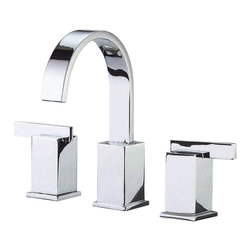 "Danze - Danze D304044 Chrome Widespread Lavatory Faucet Two Handle - Danze D304044 Chrome Two Handle Widespread Lavatory Faucet is part of the Sirius Bath collection.  D304044 3 hole 6""-12"" Widespread lav faucet has a 5 1/2"" long and 8 3/4"" high swivel spout, with metal touch down drain. D304044 Two lever handles meets all requirements of ADA.  California and Vermont compliant."