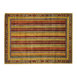 1800-Get-A-Rug - Bright Colors Kashkuli Handmade Oriental Rug 100 Percent Wool Sh19835 - Our Tribal & Geometric hand knotted rug collection, consists of classic rugs woven with geometric patterns based on traditional tribal motifs. You will find Kazak rugs and flat-woven Kilims with centuries-old classic Turkish, Persian, Caucasian and Armenian patterns. The collection also includes the antique, finely-woven Serapi Heriz, the Mamluk, Afghan, and the traditional handmade village Persian rugs.