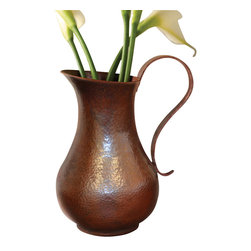 Native Trails - Los Olivos Copper Pitcher in Antique Finish - Keep your cool. Not only is copper antimicrobial, it also has the amazing ability to keep things cool longer. Fill this pitcher up with your favorite iced beverage or use it to hold fresh flowers. It's made of recycled copper and hand-hammered for unique texture.