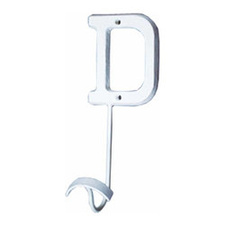 Renovators Supply - Hooks Wrought Iron Hook White Decorative Letter D - Letter Hooks: Crafted of wrought iron, these hooks add a personal touch for each member of the family, to entryways, bedrooms or baths. Each hook includes hardware for mounting
