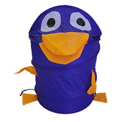 Four Seasons - Blue Duck Animal Shaped Nylon Hamper Storage Basket - FEATURES: