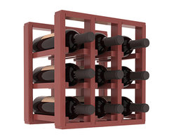 Wine Racks America® - 9 Bottle Counter Top/Pantry Wine Rack in Pine, Cherry Stain + Satin Finish - These counter top wine racks are ideal for any pantry or kitchen setting.  These wine racks are also great for maximizing odd-sized/unused storage space.  They are available in furniture grade Ponderosa Pine, or Premium Redwood along with optional 6 stains and satin finish.  With 1-10 columns available, these racks will accommodate most any space!!