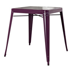 Crosley Furniture - Crosley Furniture Amelia Metal Cafe Table in Purple - Crosley Furniture - Dining Tables - CF220130PR - Originally made famous in the quaint bistros of France these midcentury replicas of original cafe tables will offer a dose of nostalgia combined with careful consideration for your wallet.  This inspired revival evokes a sense of a true vintage find.