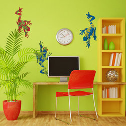 My Wonderful Walls - Giant Frog Stickers - Decals - - Three large tree frog wall stickers decals
