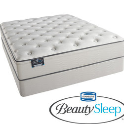 Simmons Beautyrest - Simmons BeautySleep Stapleton Plush Twin-size Mattress Set - The BeautySleep line offers comfort, support and durability. The new design features Simmons 700 Series Coil Technology which provides exceptional motion separation, conformity and back support.