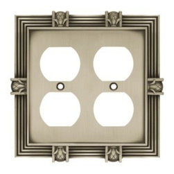 Liberty Hardware - Liberty Hardware 64458 Pineapple WP Collection 4.96 Inch Switch Plate - A simple change can make a huge impact on the look and feel of any room. Change out your old wall plates and give any room a brand new feel. Experience the look of a quality Liberty Hardware wall plate. Width - 4.96 Inch, Height - 4.9 Inch, Projection - 0.3 Inch, Finish - Brushed Satin Pewter, Weight - 0.44 Lbs.