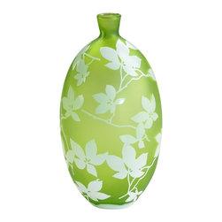 Cyan Design - Cyan Design Large Blossom Vase in Green and White - Large Blossom Vase in Green and White