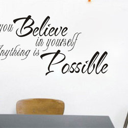 ColorfulHall Co., LTD - Removable Wall Decals Believe In Yourself Quote - Removable Wall Decals Believe In Yourself Quote
