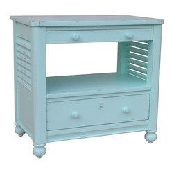 EuroLux Home - New Desk Chest Blue Painted Hardwood Newport - Product Details