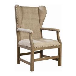 EuroLux Home - New Arm Chair Oak Arm Falmouth FC-200 - Product Details