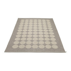 Pappelina - Hugo Metallic Mud & Mud Rug - This outdoor rug from Pappelina contains a basic geographic pattern. It uses PVC-plastic and polyester-warp to give it ultimate durability and clean-ability. Great for decks, bathrooms, kitchens and kid's rooms.
