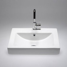 SA5010 - rectangular semi-recessed basin | Blu Bathworks