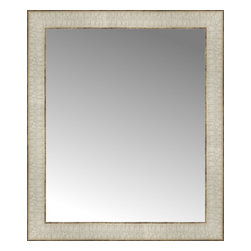 """Posters 2 Prints, LLC - 18"""" x 21"""" Libretto Antique Silver Custom Framed Mirror - 18"""" x 21"""" Custom Framed Mirror made by Posters 2 Prints. Standard glass with unrivaled selection of crafted mirror frames.  Protected with category II safety backing to keep glass fragments together should the mirror be accidentally broken.  Safe arrival guaranteed.  Made in the United States of America"""