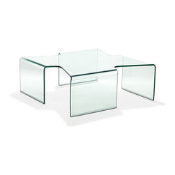 ZUO MODERN - March Coffee Table Clear Glass - March Coffee Table Clear Glass