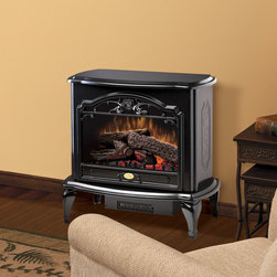 Dimplex - Dimplex Celeste Black Purifire Electric Fireplace Stove with Remote Control - TD - The largest stove we sell, the Dimplex Celeste Black Purifire Electric Fireplace Stove with Remote Control immediately commands attention with a beautifully detailed exterior, glossy black finish, life-like flames, and glowing embers. Adds old world charm to any room at the drop of a hat.