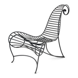 Ceccotti - Ceccotti Spine Chair - This chair is constructed of 10mm flattened rod iron stripes and has the option of being finished in white, orange, light blue, black, gold-leaf, or silver-leaf.   Price includes delivery to the USA.  Manufactured by Ceccotti.