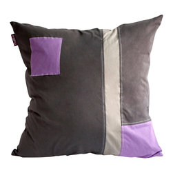 Blancho Bedding - [Black Temptation] Knitted Fabric Patch Pillow Floor Cushion 19.7 by 19.7 inches - Aesthetics and Functionality Combined. Hug and wrap your arms around this stylish decorative pillow measuring 19.7 by 19.7 inches, offering a sense of warmth and comfort to home buddies and outdoors people alike. Find a friend in its team of skilled and creative designers as they seek to use materials only of the highest quality. This art pillow by Onitiva features contemporary design, modern elegance and fine construction. The pillow is made to have invisible zippers, knitted fabric shells and fill-down alternative. The rich look and feel, extraordinary textures and vivid colors of this comfy pillow transforms an ordinary, dull room into an exciting and luxurious place for rest and recreation. Suitable for your living room, bedroom, office and patio. It will surely add a touch of life, variety and magic to any rooms in your home. The pillow has a hidden side zipper to remove the center fill for easy washing of the cover if needed.