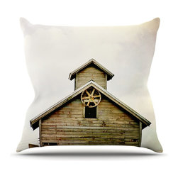 "Kess InHouse - Angie Turner ""Barn Top"" Wooden Throw Pillow (16"" x 16"") - Rest among the art you love. Transform your hang out room into a hip gallery, that's also comfortable. With this pillow you can create an environment that reflects your unique style. It's amazing what a throw pillow can do to complete a room. (Kess InHouse is not responsible for pillow fighting that may occur as the result of creative stimulation)."