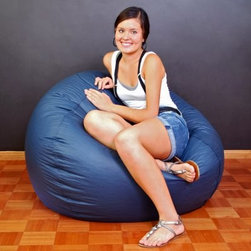 Large Classic Round Vinyl Bean Bag - Kicking back isn't just kid stuff - adults and teens can sink into comfort in a Large Classic Round Vinyl Bean Bag. This bag is undeniably comfortable and incredibly durable covered in soft easy-to-clean vinyl. It's an ideal spot for reading a book or magazine watching a favorite TV show or conversing in comfort and style. The vinyl cover comes in your choice of easy-to-match dark tones and the bead filling comfortably supports adults and teens. Relax bean bags aren't just for kids.In accordance with the Consumer Product Safety Commission this bean bag features a resealable safety closure. The closure seals each zipper and protects children from the age of 12 and younger.About American Furniture AllianceLocated in Corona Calif. American Furniture Alliance manufactures a wide range of furniture lines including futon convertibles futon mattresses futon covers and accessories bean bag chairs foam furniture and various accent furniture pieces. Their trademarked lines include Elite Convertibles Bean Bag Factory ModFX Foam Furnishings and the ModernLoft Collection.