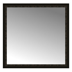 """Posters 2 Prints, LLC - 48"""" x 47"""" Mantilla Expresso Custom Framed Mirror - 48"""" x 47"""" Custom Framed Mirror made by Posters 2 Prints. Standard glass with unrivaled selection of crafted mirror frames.  Protected with category II safety backing to keep glass fragments together should the mirror be accidentally broken.  Safe arrival guaranteed.  Made in the United States of America"""