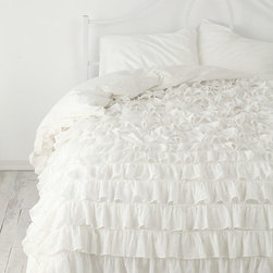 Waterfall Ruffle Duvet Cover - I don't think you can get more feminine than a bed full of ruffles. Every little girls dream, no?
