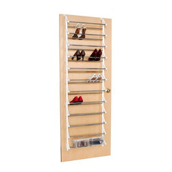 36-Pair Overdoor Shoe Rack - For those of you with limited closet space, this 36 pair shoe rack takes full advantage of the oft-wasted space on the back of the door.