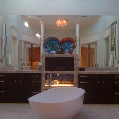 contemporary bathtubs by the bohemian kitchen of Gozan Interiors
