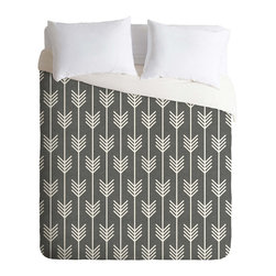 Woodland Arrow Duvet Cover - Relax into this smooth, stylish duvet cover. Custom made for every order, the Woodland Arrow Duvet Cover sports a printed top side with a chic cream bottom side, and has a hidden zipper for easy use and care.