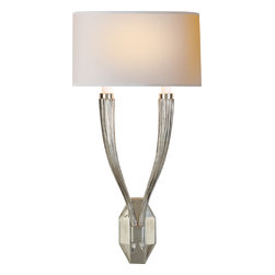 Ruhlmann Double Sconce - Wall sconces are a classic choice for lighting up your fireplace area or master bedroom. Hang a framed piece of art or large mirror between two sconces for a chic and sophisticated look. Now you just need to choose between burnished brass or polished nickel and you'll be ready to light your room.