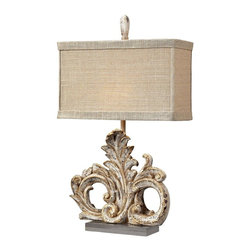 Dimond Lighting - 93-10030 Springfield Table Lamp, Presidente - Mediterranean Table Lamp in Presidente from the Springfield Collection by Dimond Lighting.